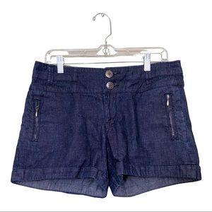 Anthropologie Sz 6 Denim Cuffed Shorts